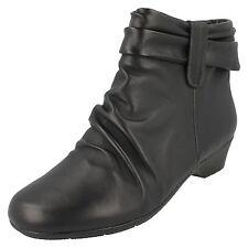 Clarks Matron Ella Ladies Black Ankle BOOTS UK Sizes 4 X 9 E Fitting (lr) Uk5 Eu38