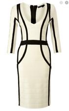 French Connection Spotlight Sprint Ribbon Dress Womens US 0 Bodycon Bandage