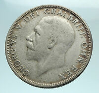1928 United Kingdom Great Britain GEORGE V Silver Florin 2 Shillings Coin i79383