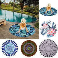 Indian Bohemian Mandala Beach Towel Round Tapestry Blanket Bedspread Yoga Shawl