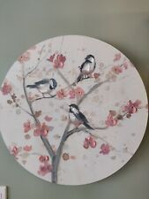"""Birds & blossoms Oil Painting Canvas Wall Art Framed Ready to hang 22"""""""