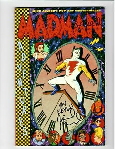 🚚 Madman Adventures 1st Print Signed by Mike & Laura Allred Dark Horse 1995 NM!