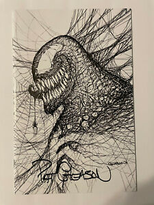 Venom 33 -- White Virgin Web-Head Variant Patrick Gleason Signed - Ltd to 800 NM