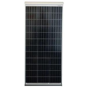 Solar Panel Sun Plus Aero 120W 12V, with integrated aluminum spoilers for RVs