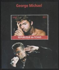 Chad 6740 - 2017 GEORGE MICHAEL perf s/sheet  unmounted mint