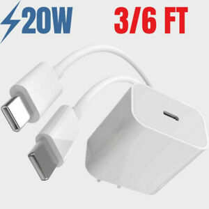 PD 20W USA Plug Fast AC Wall Charger USB-C Power Adapter For iPhone 13 12 11 8 7