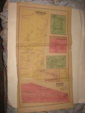 ANTIQUE 1868 MAYFIELD PERTH KINGSBORO NORTHAMPTON FULTON COUNTY NEW YORK MAP NR
