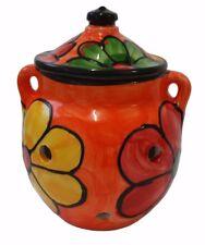 Garlic Storage Jar Kitchenware 16 cm X 15 cm Spanish Handmade Ceramic Pottery