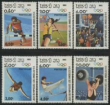 LAOS N°448/453** Jeux olympiques (javelot, basket..) 1983 Olympic games set MNH