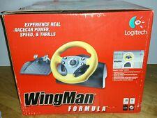 Logitech Wingman Formula GP E-UF5 USB or Game Port Racing Wheel for PC / Mac ~