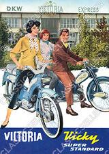 Victoria Vicky Super Standard Moped Poster Plakat Bild Affiche Schild Reklame