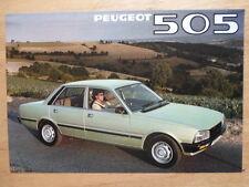 PEUGEOT 505 SALOONS 1980 UK Mkt Fold-Out Sales Brochure