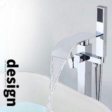 Floor Mount Bathtub Faucet Free Standing Tub Filler Mixer With Handheld Shower
