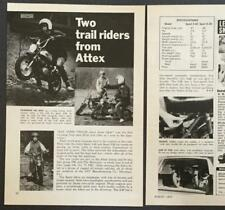 1972 Attex Trail Bikes Sport Minicycle 2.40 5.30 original Review AD minibike