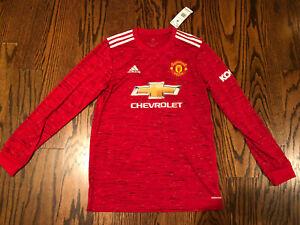 Adidas 2020-21 Manchester United Home Long Sleeve Red Jersey Men's Medium FM4290
