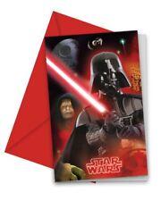6pk Star Wars Final Battle Invitations & Envelopes Children's Birthday Party