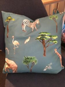 "SALE PRESTIGIOUS textiles On Safari Fabric 16""  cushion cover Elephant Giraffe"