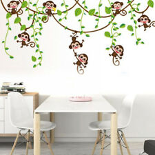 Monkey Tree Jungle Animal Wall Sticker Nursery Kids Room Art Vinyl Decals  Decor