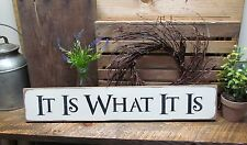 Wooden Sign, It Is What It Is, House Sign, Gift For Friend, Wood Sign Saying