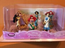 Disney 6 Princess Figure Play Set Belle Rapunzel Jasmine Merida Ariel Pocahontas