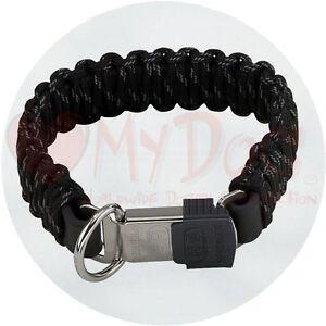 Herm Sprenger Black Reflecting Paracord Dog Collar