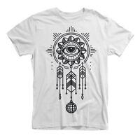 Dreamcatcher Printed T-Shirt Urban Art Hipster Street Mens Girls Tee Top New