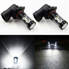 2Pcs 9005 HB3 9145 H10 6000K 100W LED Projector DRL Fog Driving Light Bulb