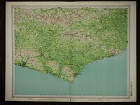 1903 MAP ~ EAST ESSEX EASTBOURNE SEAFORD BRIGHTON HAILSHAM & VILLAGES