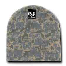 Military Camouflage Camo Beanie Beanies GI Jacquard Knit Watch Cap Caps Winter