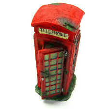 Public telephone booth Aquarium Ornaments - decoration fish tank cave decor hide