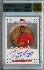 2007-08 Topps Rookie Photo Shoot CARL LANDRY Auto RC #/100 SP BGS 8.5/10 Pop 1