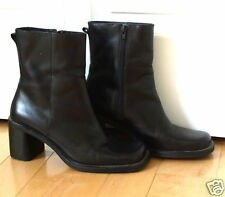Womens *Sharp* Looking Bk Leather Boots *Lea 8.5