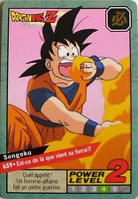 CARTE DRAGON BALL LE GRAND COMBAT N-¦659 SONGOKU POWER LEVEL 2