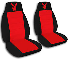 2 Black and Purple Bunny Car Seat Covers Universal Size