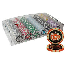 300PCS 14G ACE CASINO TABLE CLAY POKER CHIPS SET ACRYLIC CASE