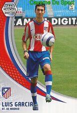 053 LUIS GARCIA ESPANA ATLETICO TARJETA CARD MEGA CRACKS LIGA 2008 PANINI