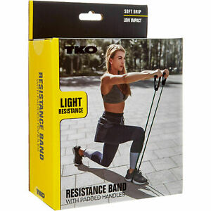 New TKO Premium Resistance Band With Padded Handles Light Resistance