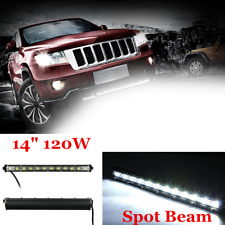 120W Long Strip Work Light SPOT CREE Single Row LED Lamp Bar For Car SUV Truck