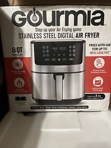 Gourmia 8-Qt. Stainless Steel Digital Air Fryer with FRY FORCE NEW! FREE SHIP!