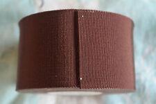 "10 yard roll 2"" red  brown vintage cotton rayon petersham ribbon millinery hat"