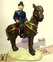 Grandeur Noel Victorian Village Mounted Police Officer 1999 Christmas Replacemen