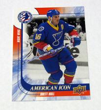 2016 National Hockey Card Day BRETT HULL #14 American Icon NHL St Louis Blues NM