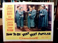 Betty GRABLE, Sheree NORTH LbyCrd HOW TO BE VERY, VERY, POPULAR (1955)Orson Bean