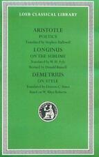 Poetics. Longinus: On the Sublime. Demetrius: On Style (Hardback or Cased Book)
