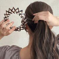 2020 Fashion Leopard Print Hairstyle Headband Hair Claw Hair Clip For Women