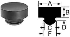 """Set of Eight 9/16"""" Rubber Push-In Bumpers (Feet)      RB-563"""