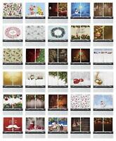 "Festive Christmas Kitchen Curtains 2 Panel Set Window Drapes 55"" X 39"" Ambesonne"
