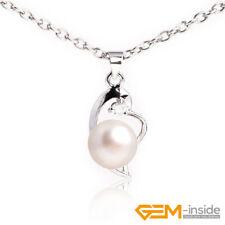 9-10mm Natural Freshwater Pearl Beads GP Base Fashion Jewerly Pendant 11x22mm