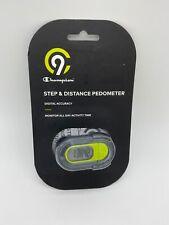 C9 CHAMPION STEP & DISTANCE GREEN PEDOMETER DIGITAL ACCURACY NEW
