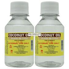 "Coconut Oil Aceite de Coco 4 Fl. Oz. ""Pack of 2"""